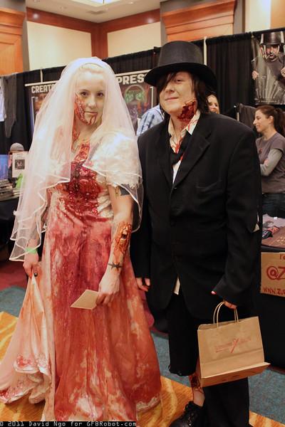 Zombie Bride and Zombie Groom