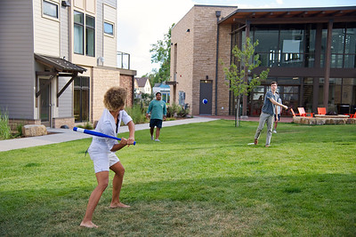Joshua Birndorf  CC's various fraternities hold a barbecue at East Campus to attract new members, share food with friends, and enjoy the beautiful Colorado Springs weather. John Henry Williams takes a swing at a wiffle ball.