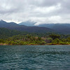 The Mahale landscape; water, rainforest and high mountains.
