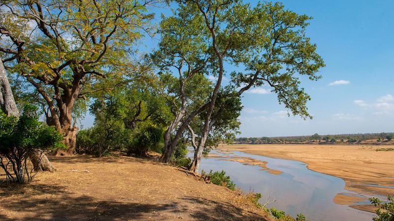 One of the campsites in Gonarezhou National Park, Zimbabwe. @ Daniel Rosengren