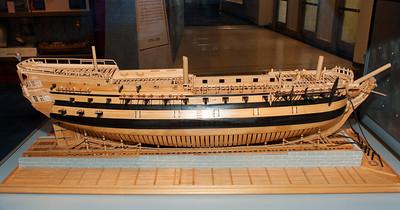 2009-10-03 - USNA Museum - 269 - Ship Model - Bonhomme Richard - _DSC7675