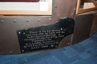 2009-10-03 - USNA Museum - 340 - 1st US Ironclad Warship - USS Monitor (armor plating) - _DSC7760