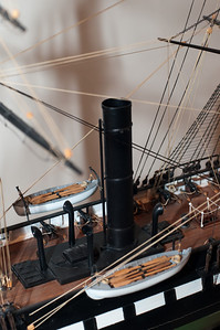 2009-10-03 - USNA Museum - 324 - Steam Screw Frigate - USS Wabash (smokestack) - _DSC7738