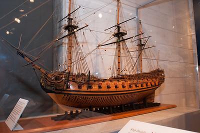 2009-10-03 - USNA Museum - 016 - Prince Federick - 3rd Rate 70-Gun Ship of 1715 - _DSC7393