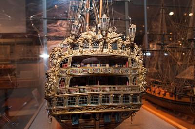 2009-10-03 - USNA Museum - 082 - Royal William - 1st Rate 100-Gun Ship of 1719 (stern) - _DSC7472