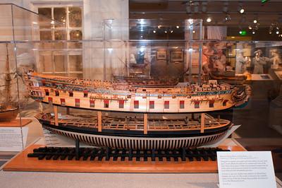2009-10-03 - USNA Museum - 014 - British 3rd Rate 70-Gun Ship of 1715 (starboard) - _DSC7391