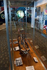 A model of one of the first ships of the US Navy, the Frigate USS Constellation.