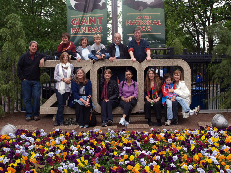 In this photo: Front row, from left:Susan Harvey, Leslie Hiebert, Bronwyn Fry, Shelley Johnson, Kitty Thuermer, Nick Turner, Ellen Turner. Back row, from left: Eric Hols, Eric's son, Andrea Mitchell, Eric's son, Ken Fry, Tim Brown.