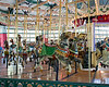 """Some of the horses in the Grand Carousel.  Now that I think about it, this is an authentic """"Carousel"""", in that it has only horses.  The ones with animals other than horses are """"Merry Go Rounds""""."""