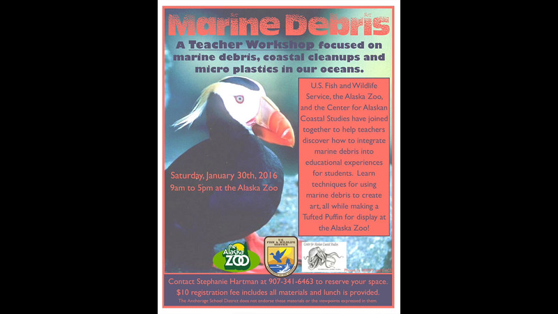 This is a time lapse video of the Marine Debris class held recently at the Alaska Zoo.