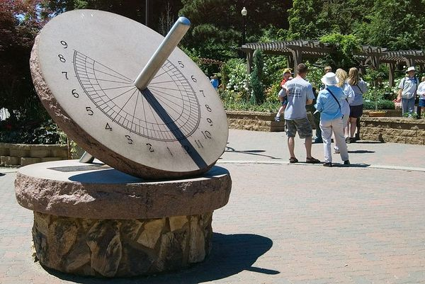 "<font size=""3"">The Sundial in the formal garden</font>"