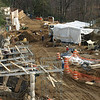 Work progresses on the new Elephant Trails at the National Zoo.