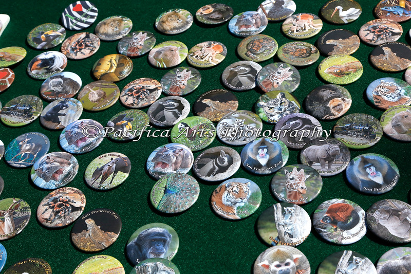 Docent Fundraiser - Buttons!  And they're all SFZoo animals too!