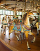 Did you know a Carousel has only horses?  One with different types of animals is called a Merry-Go-Round!  I also learned something else on this day - this is the oldest Horse on our Dentzel Merry-Go-Round!