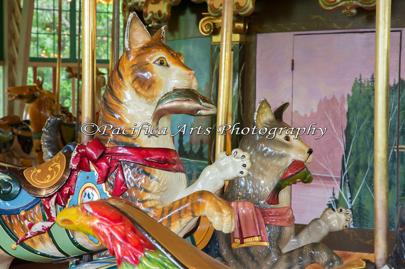 Dentzel Merry-Go-Round.  There are two sets of cats - two with fish, and two with birds.