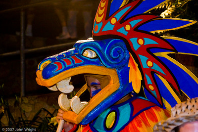 Quetzalcoatl, the Feathered Serpent from Aztec mythology
