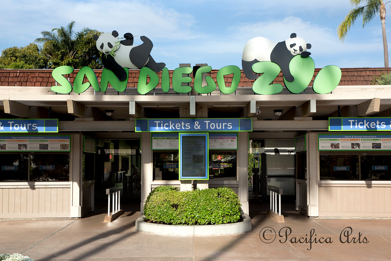 San Diego Zoo entry gate