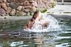 Making a BIG Hippo splash!  (Nile Hippopotamus)