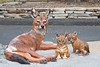 Sculpture Learning Plaza - Ethiopian Wolf with Pups