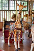 Want to ride a Giraffe?  There's one waiting for you in the Eugene Friend Carousel!