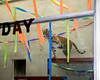 Leanne is a party pro - she knows just what to do with streamers!  (Sumatran Tiger)