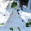 Another creative snowman in the American Black Bear enclosure.
