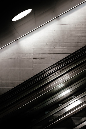 Escalator at the Zurich trainstation
