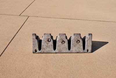 Protective concrete block in Zurich