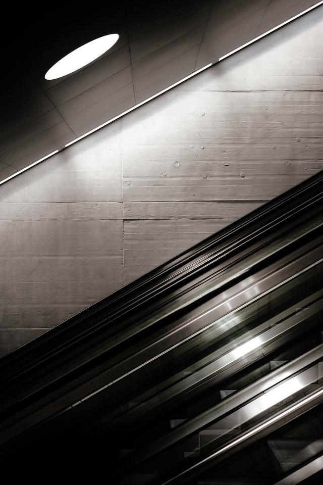 Escalator at the Zurich trainstation