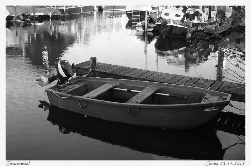 Bopotje in het haventje van Zwartewaal