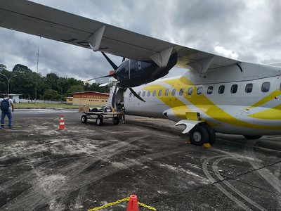 Plane to Sao Gabriel da Cachoeira. my orginal plan was to take a boat but due to the record flood there are regular liaison for the time being between Manaus and Sao Gabriel