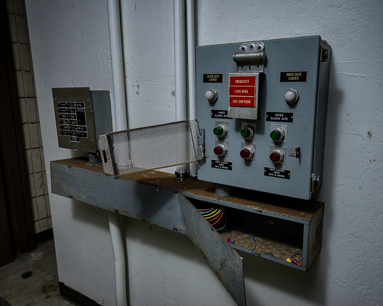 Gate controls inside main building