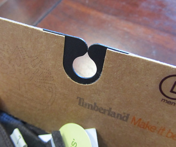 simple card, eco sized, recycled stock, reinforced hanger