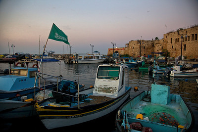 Boats docked at the port of Acre in Northern Israel. December 10, 2010. Photo by Doron Horowitz/FLASh90