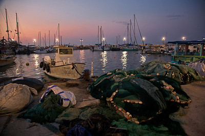 Boats docked at the port of Acre in Northern Israel. December 10, 2010. Photo by Doron Horowitz