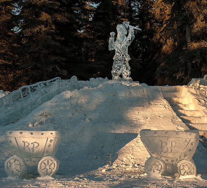 Soldotna ice sculptures for the Winter Gam