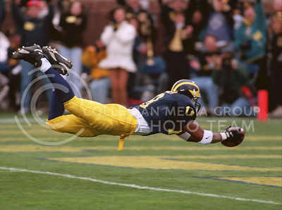 A diving end-zone catch for U of M!