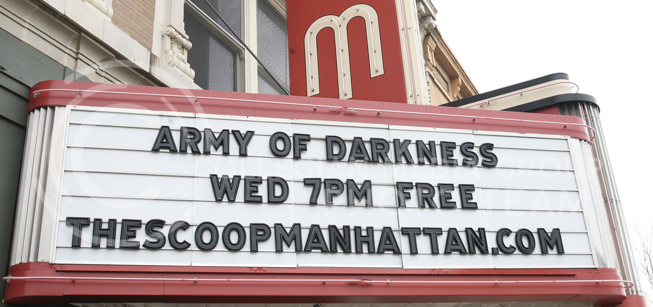 Army of Darkeness showing at the Wareham Theatre Wednesday at 7 p.m. The event is free and open to the public.