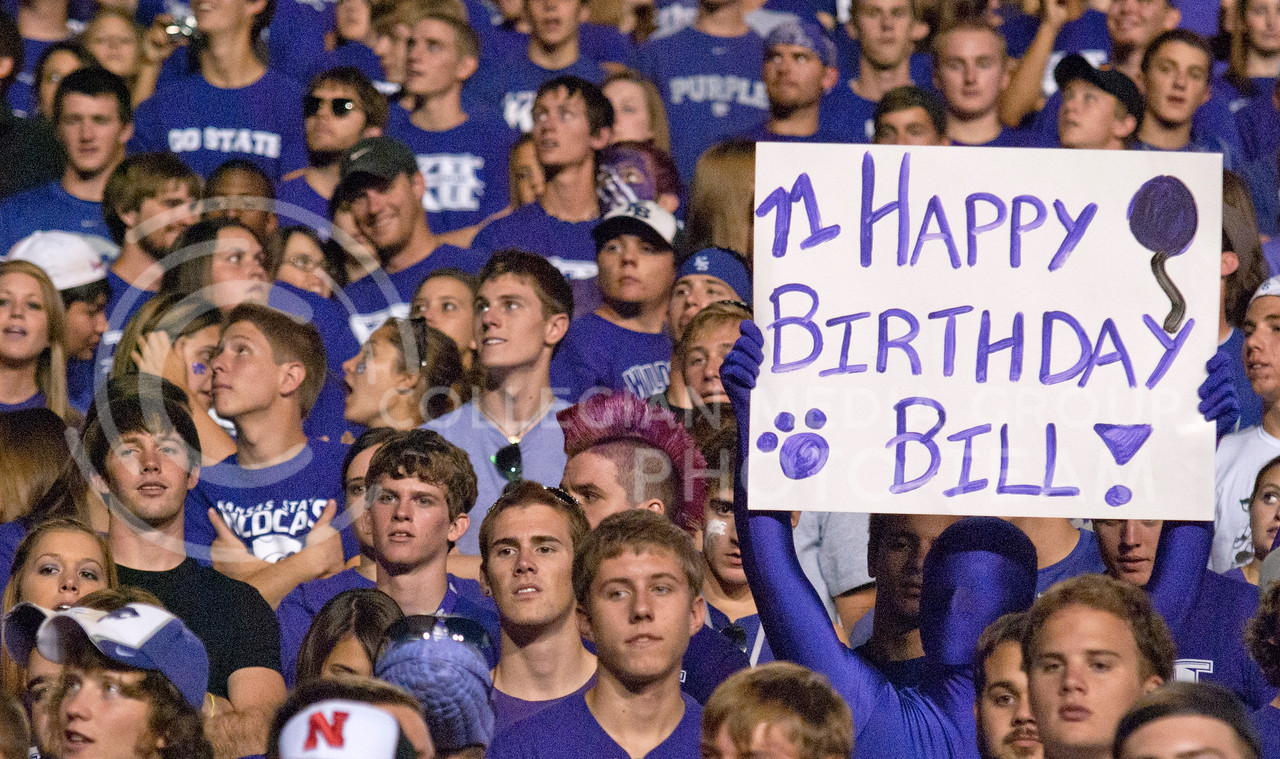The student section was filled Thursday night in Bill Snyder Family Stadium to cheer on the cats and wish our head coach a happy birthday.