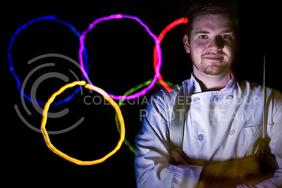 Stewart Lane, senior in hotel and restaurant management at Kansas State University, worked as a chef for the USA House during the Beijing olympics in 2008.