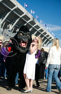 Dressing up for football games can be a lot of fun, and often fans find creative ways to spice up the tradition Tailgate as this couple dressed as King Kong and captured medien during last year's football season.