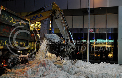 New York City sanitation workers have been busy cleaning up the snow that ravaged the city just two days ago. Much of the cleanup has been centered in and around Times Square where, in just a few days, millions of people will gather to celebrate the new year.
