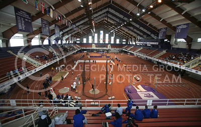 Ahearn Fieldhouse was the site of Saturday's Wildcat invitational. The wildcats won 16 events.