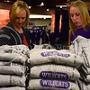 (Photo by Parker Robb | Collegian)  Ashley Bruna, a future K-State student, and her mother, Melodee Bruna, peruse the K-State sweatshirts on display at the Union Bookstore in the K-State Student Union Wednesday afternoon.