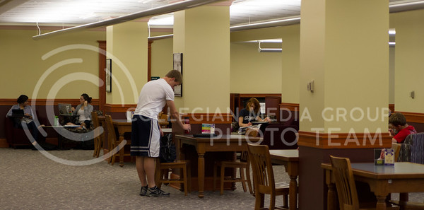 Russell Edem | Collegian Students are preparing for their finals using many study areas in Hale library on Campus. The library offers many study areas for the students to use at their own convenence. Picture taken May 9, 2013