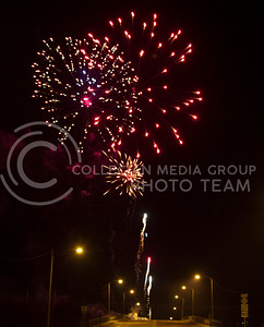 Russell Edem | Collegian Fireworks light up the night sky on the 4th of july during the 2013 Sundown Salute.