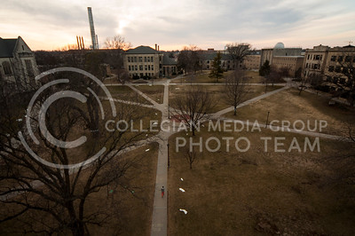 (Hannah Hunsinger | Collegian)  The sun sets behind campus on April 17, 2013.