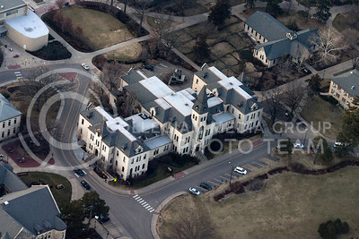 Anderson Hall from above.  (Photo by Evert Nelson/Collegian)