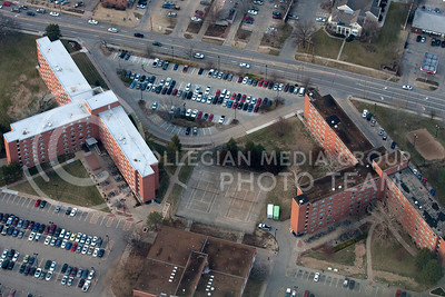 The dorms of Goodnow and Marlott as part of the Kramer complex.  (Photo by Evert Nelson/Collegian)