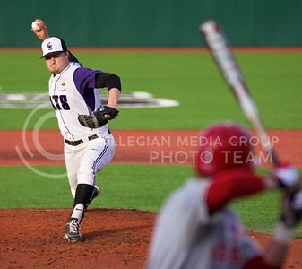 (Photo by Jed Barker   Collegian) Blake McFadden was K-State's starting pitcher against the Nebraska Cornhuskers on Tuesday, April 2, 2013, at Tointon Family Stadium. McFadden pitched a total of three innings with two strike outs.